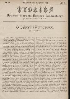"""Tydzień : dodatek literacki """"Kurjera Lwowskiego"""". 1899, nr53"""