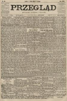 Przegląd polityczny, społeczny i literacki. 1900, nr41
