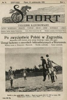 Sport : tygodnik ilustrowany. 1922, nr31