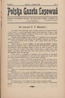 Polska Gazeta Losowań. 1928, nr3