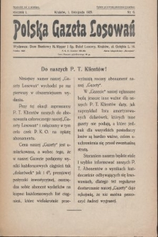 Polska Gazeta Losowań. 1928, nr6