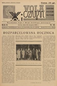 Wola i Czyn : czasopismo społeczno-polityczne. 1938, nr 16