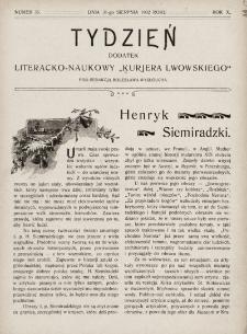 """Tydzień : dodatek literacko-naukowy """"Kurjera Lwowskiego"""". 1902, nr35"""