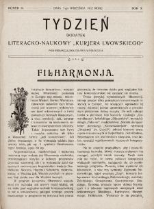 """Tydzień : dodatek literacko-naukowy """"Kurjera Lwowskiego"""". 1902, nr36"""