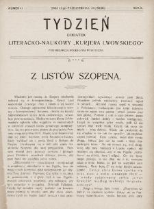 """Tydzień : dodatek literacko-naukowy """"Kurjera Lwowskiego"""". 1902, nr41"""