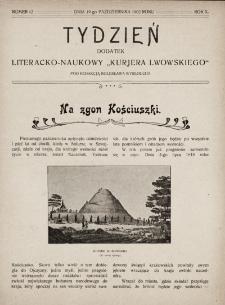 """Tydzień : dodatek literacko-naukowy """"Kurjera Lwowskiego"""". 1902, nr42"""