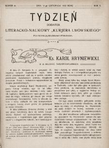 """Tydzień : dodatek literacko-naukowy """"Kurjera Lwowskiego"""". 1902, nr46"""