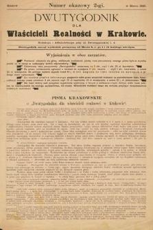 Dwutygodnik dla Właścicieli Realności wKrakowie. 1890, nrokazowy 2