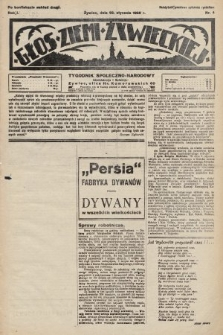 Głos Ziemi Żywieckiej : tygodnik społeczno-narodowy. 1928, nr4