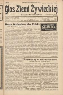 Głos Ziemi Żywieckiej : niezależne pismo narodowe. 1928, nr43