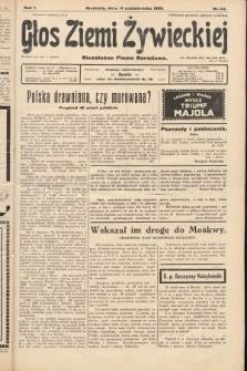 Głos Ziemi Żywieckiej : niezależne pismo narodowe. 1928, nr44