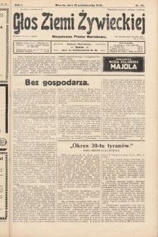 Głos Ziemi Żywieckiej : niezależne pismo narodowe. 1928, nr45