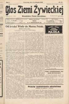 Głos Ziemi Żywieckiej : niezależne pismo narodowe. 1928, nr54