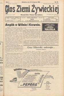 Głos Ziemi Żywieckiej : niezależne pismo narodowe. 1928, nr58