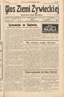 Głos Ziemi Żywieckiej : niezależne pismo narodowe. 1928, nr59