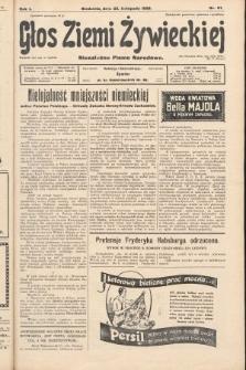 Głos Ziemi Żywieckiej : niezależne pismo narodowe. 1928, nr61