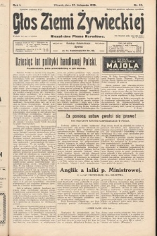 Głos Ziemi Żywieckiej : niezależne pismo narodowe. 1928, nr62