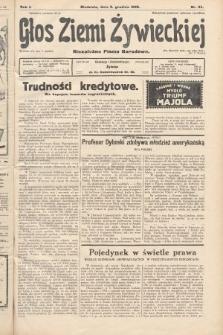 Głos Ziemi Żywieckiej : niezależne pismo narodowe. 1928, nr64