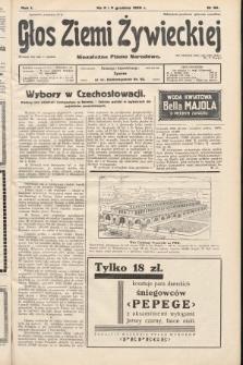Głos Ziemi Żywieckiej : niezależne pismo narodowe. 1928, nr66