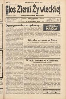 Głos Ziemi Żywieckiej : niezależne pismo narodowe. 1928, nr68