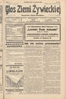 Głos Ziemi Żywieckiej : niezależne pismo narodowe. 1928, nr69