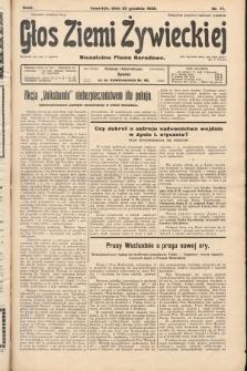 Głos Ziemi Żywieckiej : niezależne pismo narodowe. 1928, nr71