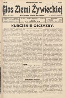 Głos Ziemi Żywieckiej : niezależne pismo narodowe. 1929, nr72