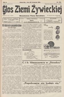 Głos Ziemi Żywieckiej : niezależne pismo narodowe. 1929, nr108