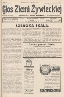 Głos Ziemi Żywieckiej : niezależne pismo narodowe. 1929, nr109
