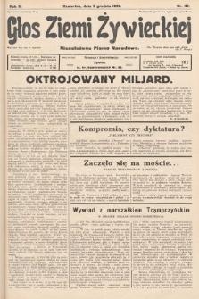 Głos Ziemi Żywieckiej : niezależne pismo narodowe. 1929, nr110