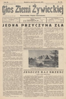 Głos Ziemi Żywieckiej : niezależne pismo narodowe. 1931, nr39