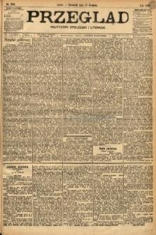 Przegląd polityczny, społeczny i literacki. 1898, nr285