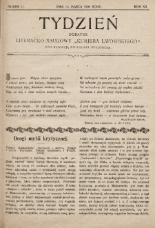 """Tydzień : dodatek literacko-naukowy """"Kurjera Lwowskiego"""". 1904, nr11"""
