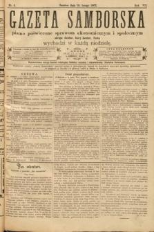 Gazeta Samborska : pismo poświęcone sprawom ekonomicznym i społecznym okręgu: Sambor, Stary Sambor, Turka. 1907, nr6