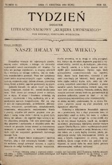 """Tydzień : dodatek literacko-naukowy """"Kurjera Lwowskiego"""". 1904, nr16"""