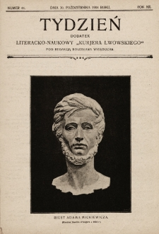 """Tydzień : dodatek literacko-naukowy """"Kurjera Lwowskiego"""". 1904, nr44"""