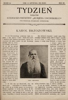 """Tydzień : dodatek literacko-naukowy """"Kurjera Lwowskiego"""". 1904, nr46"""