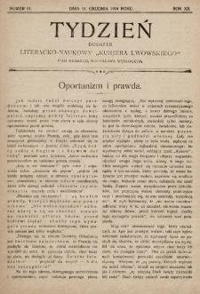 """Tydzień : dodatek literacko-naukowy """"Kurjera Lwowskiego"""". 1904, nr51"""