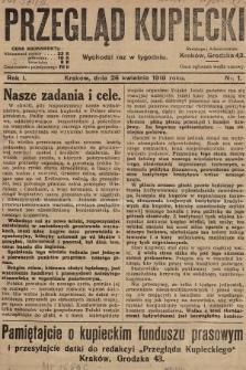 Przegląd Kupiecki. 1919, nr1