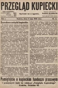 Przegląd Kupiecki. 1919, nr2