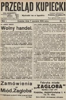 Przegląd Kupiecki. 1919, nr7