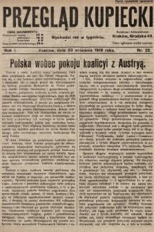 Przegląd Kupiecki. 1919, nr22