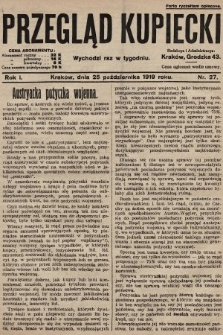 Przegląd Kupiecki. 1919, nr27