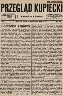 Przegląd Kupiecki. 1919, nr30