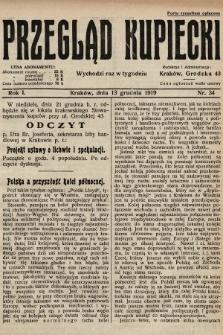 Przegląd Kupiecki. 1919, nr34