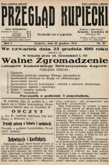 Przegląd Kupiecki. 1919, nr35