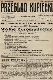 Przegląd Kupiecki. 1919, nr36