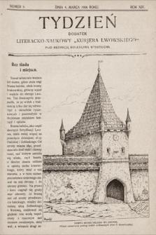 """Tydzień : dodatek literacko-naukowy """"Kurjera Lwowskiego"""". 1906, nr9"""