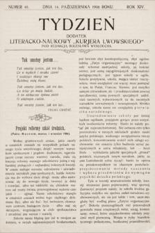 """Tydzień : dodatek literacko-naukowy """"Kurjera Lwowskiego"""". 1906, nr40"""