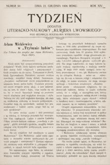 """Tydzień : dodatek literacko-naukowy """"Kurjera Lwowskiego"""". 1906, nr50"""